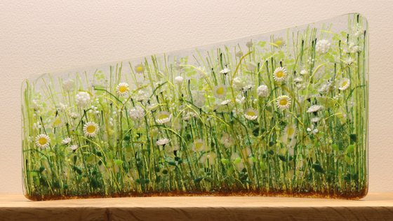 Glass Meadows White Asymmetric Curve (Made to Order)