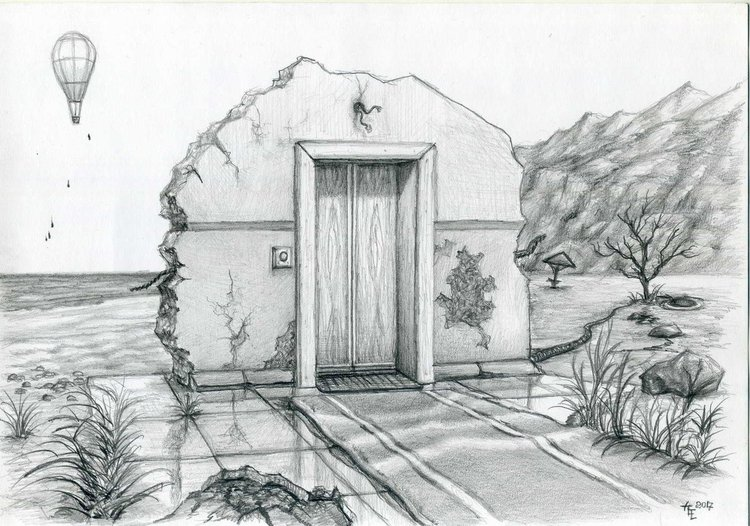 Social Lift Pencil Drawing By Evgeny Anisimov Artfinder