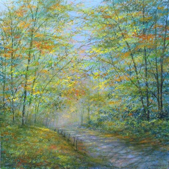 Misty Autumn Lane