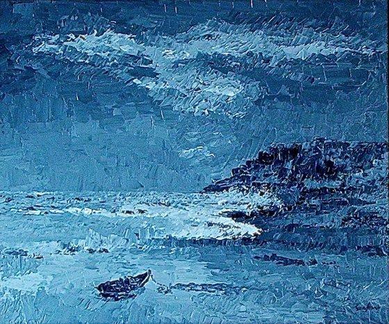 Riviera di Camogli in tempesta