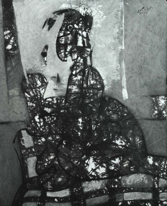 Woman On Sofa (44x55 cm)