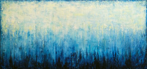 """Abstract Landscape #27, 150x70 cm - 59""""x28"""", Large abstract painting, Ready to hang"""
