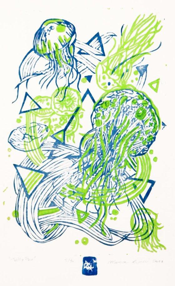 JellyFLUO- green fluo/ blue