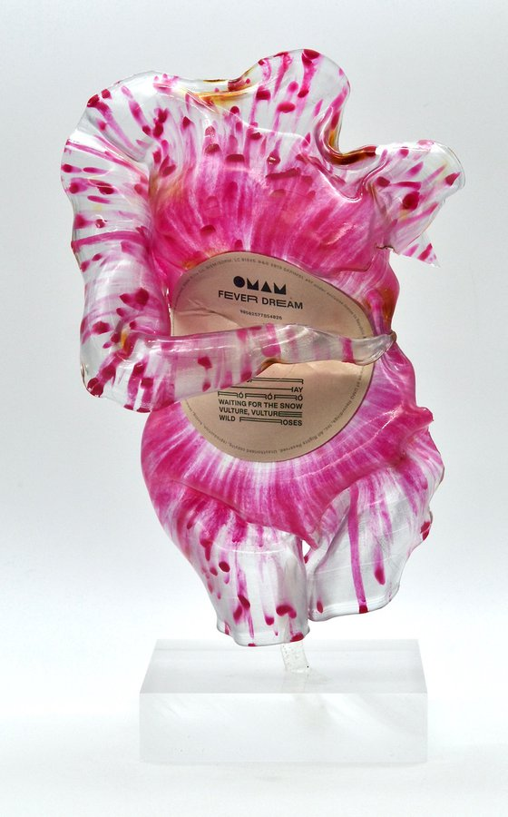 """Vinyl Music Record Sculpture - """"Venus, From Blood and Foam"""""""