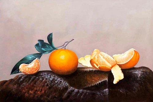 Still life:Oranges
