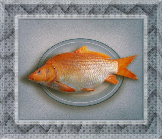 Fish Dish on Acrylic