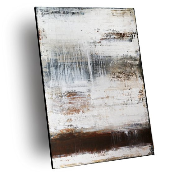 ABSENCE - ABSTRACT ACRYLIC PAINTING TEXTURED * PASTEL COLORS * READY TO HANG