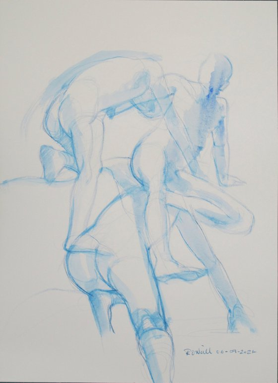 male nude 3 poses