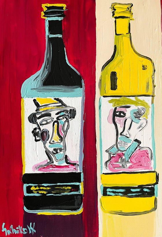 Vine oil set (set 2 artworks)