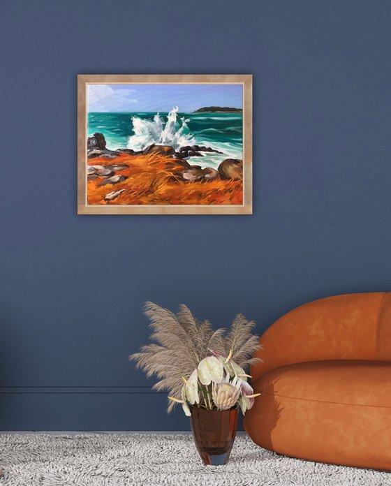 The orange coast