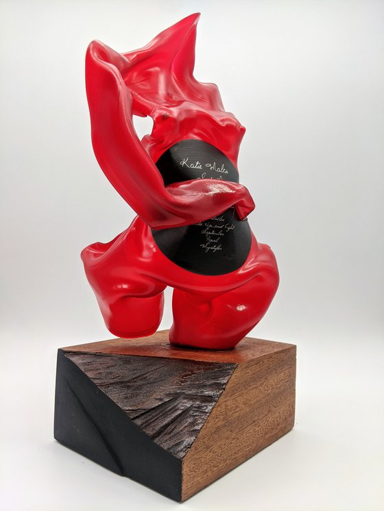 """Vinyl Music Record Sculpture - """"Wake Up and Fight"""""""