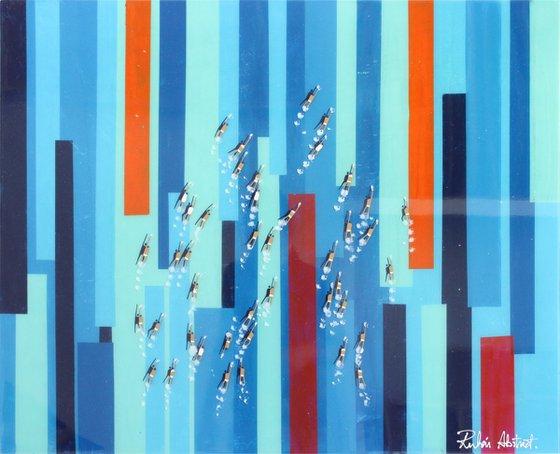 Swimmers 975 Epoxy Resin Isla Blue Eyes blue waters