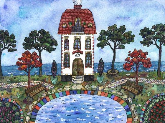 HOUSE BY THE OCEAN by Gala Sobol