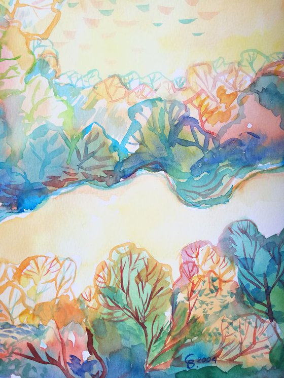Painting   Watercolor   Spring V
