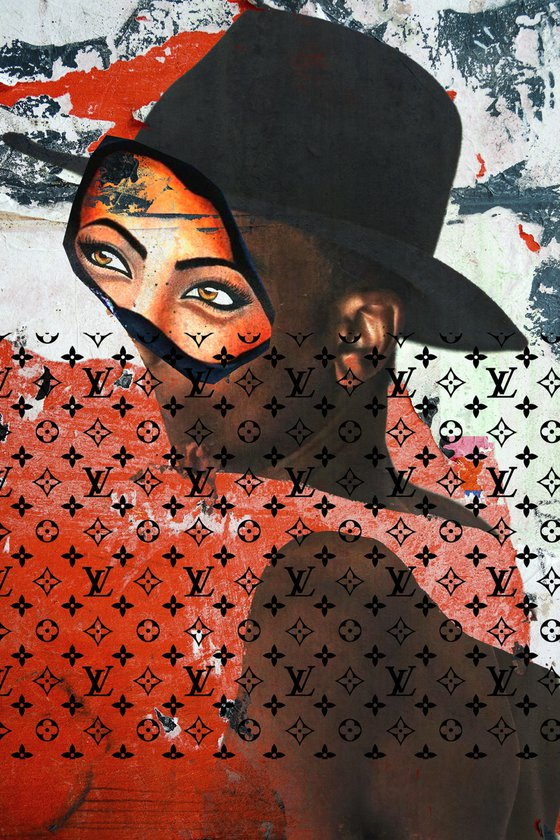 "Face art collection ""Fedbergsun"" - Vol 34. Art portrait on canvas"