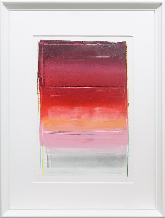 Modern Abstract Oil Painting, BREATHE- A#01, 30x40cm, Framed and Ready to Hang