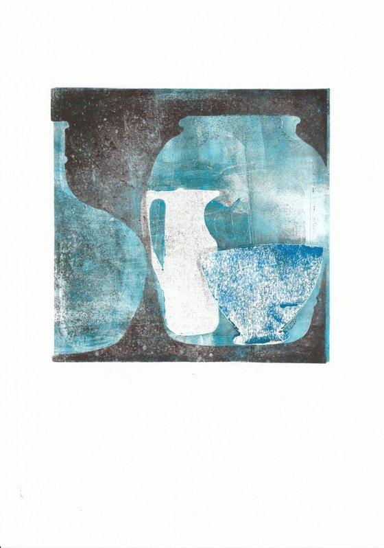 Monoprint - Still life no. 21