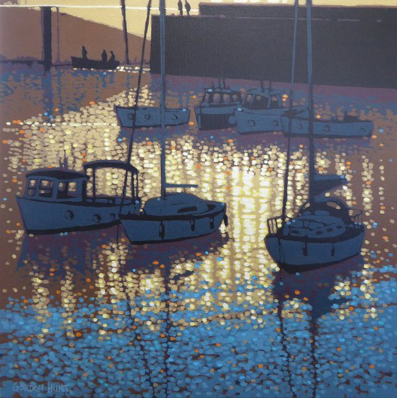 Sunset reflections - Porthleven, Cornwall
