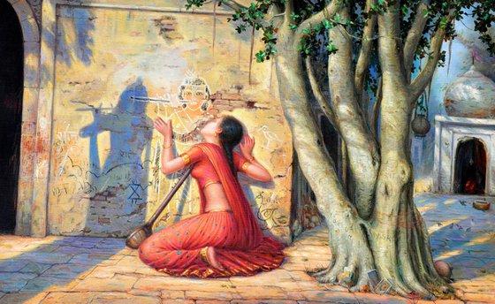 Meera's Mohan | Oil Painting By Hari Om Singh