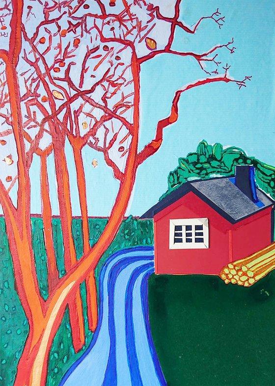 House n°5 : Blue road