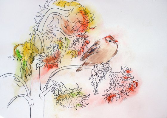 Sparrow... /  ORIGINAL PAINTING