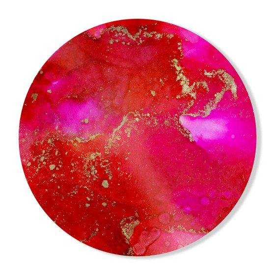 Ruby Gold - Round Art