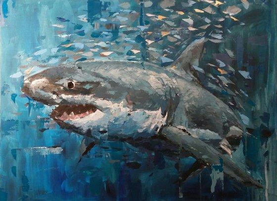 """The Hunter"", 80x60cm, (31.49''x23.62''), acrylic on canvas"