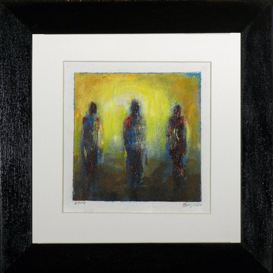 Framed Painting BJ04 Small Abstract Study Painting Trinity