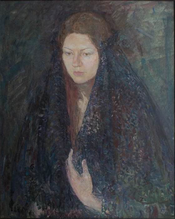 """""""Portrait of a girl with a hand"""""""