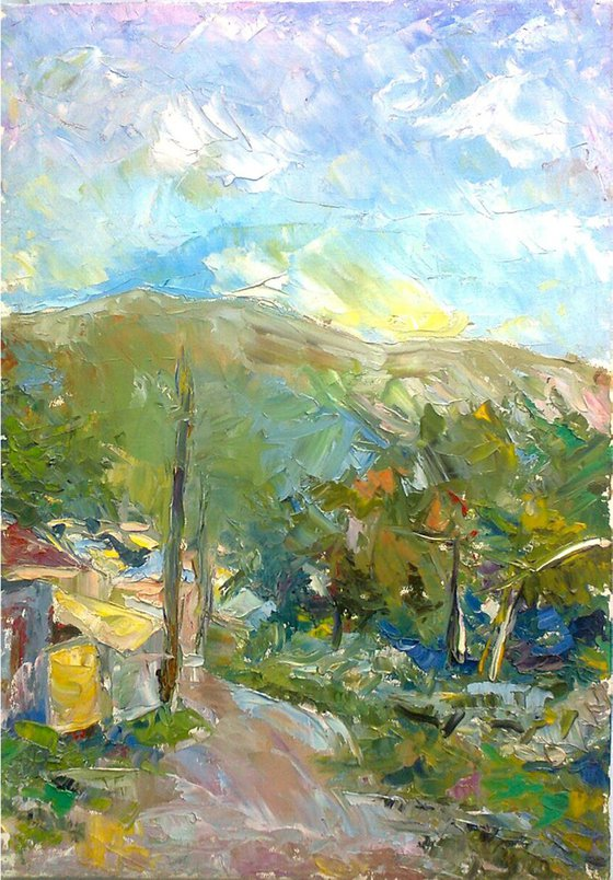 Landscape (35x50sm oil painting, ready to hang)