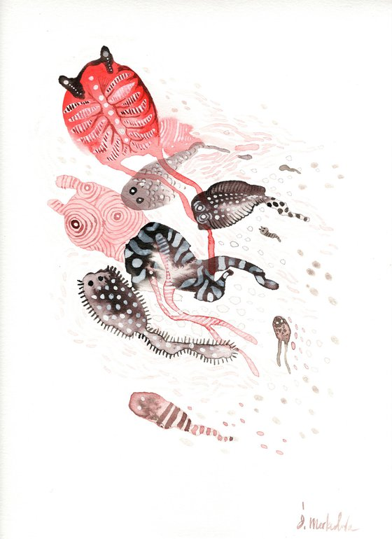 Sea Creatures 3 - Ink Drawing