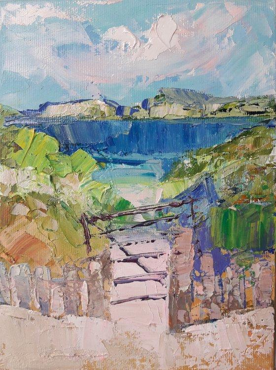 painting Dream beaches Vatersay Original Art Impressionist Impasto Oil Painting by Kseniya Kovalenko