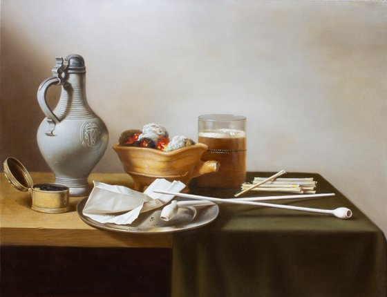 Still Life with Clay Pipes