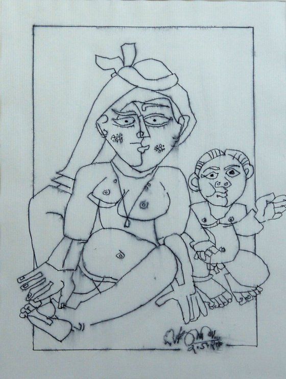 Mother and Child (Homage to Picasso)