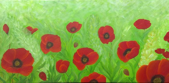 Painting   Acrylic   Poppies