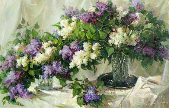 Lilacs (140x90 cm)
