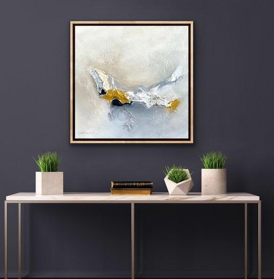 Certain future - Original painting - Natural Maple Framed