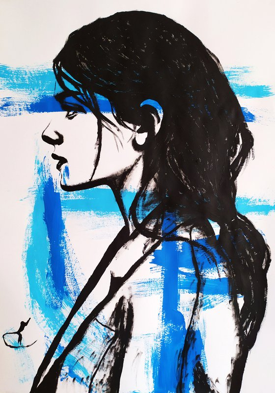 Blue girl #2