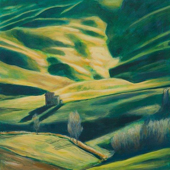 Reflection - 80x80x4 cm, 31,5x 31,5x1,5 inch