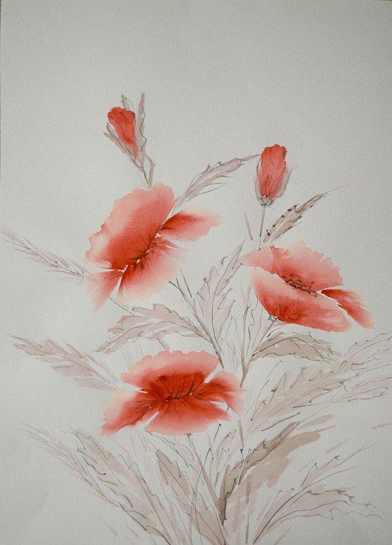 """Watercolour Flower's composition #5"" 41 х 29.5 (A3 size)"
