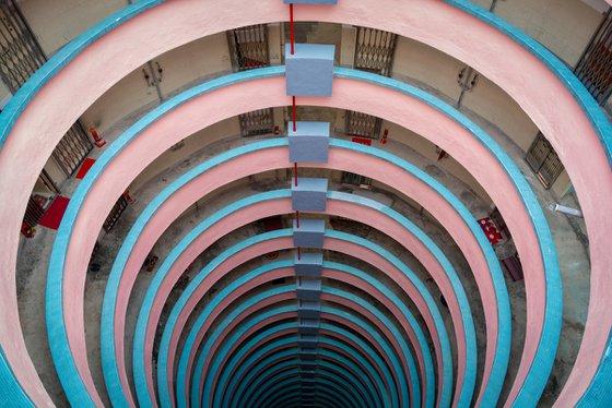 Pink & Blue Spiral