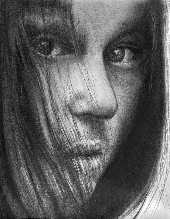 Portrait in charcoal