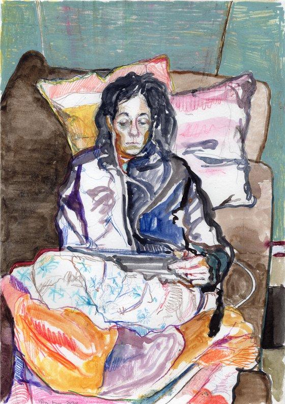 Girl on the Sofa