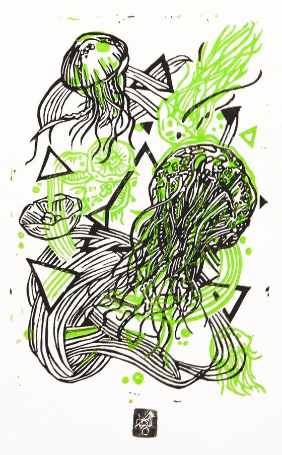JellyFLUO- green fluo/ black