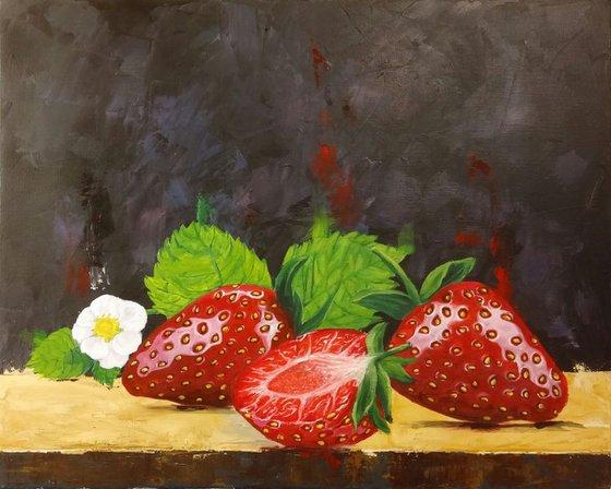 """""""Taste of spring"""" acrylic on canvas, 50x40cm, (19.7''x15.7'')"""