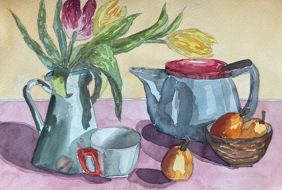 Breakfast with Tulips