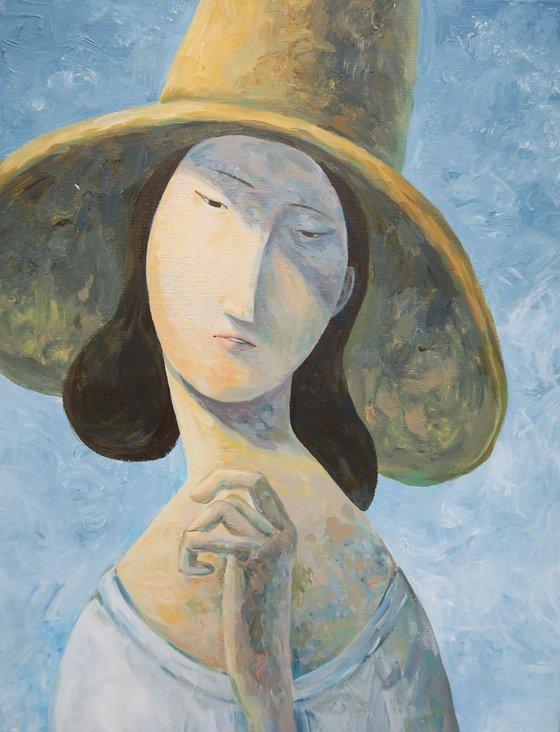 The Variation of Jeanne Hébuterne wearing a Big Hat_Ver.1