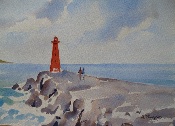 At Poolbeg Lighthouse