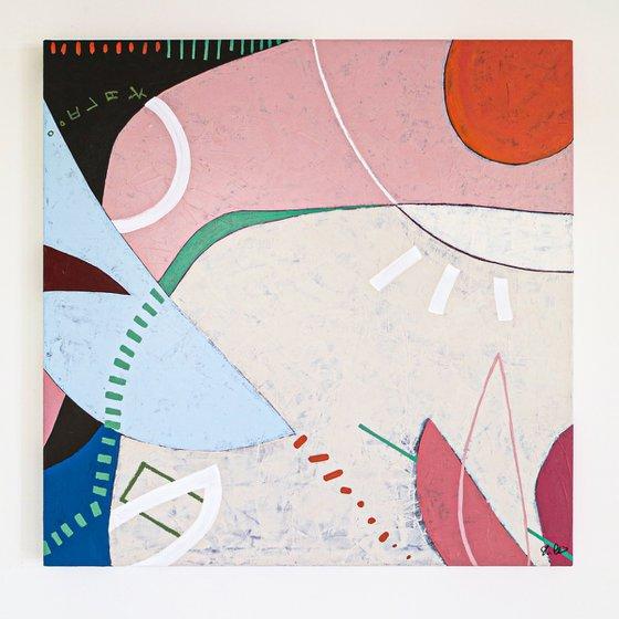 "Abstract Painting - Mond (Original, 40""x40""   101x101 cm)"