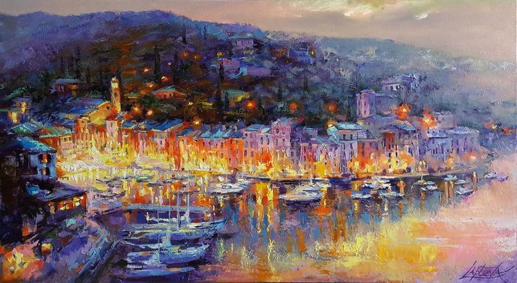 Painting Italian Landscape Evening Romantic Cit Artfinder